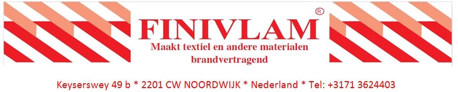 finivlam maakt textiel brandvertragend